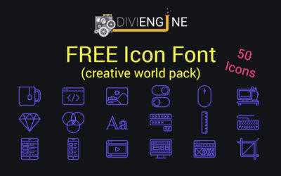 FREEBIE: Download Divi Engine Icon Font (Creative World Pack) for FREE!