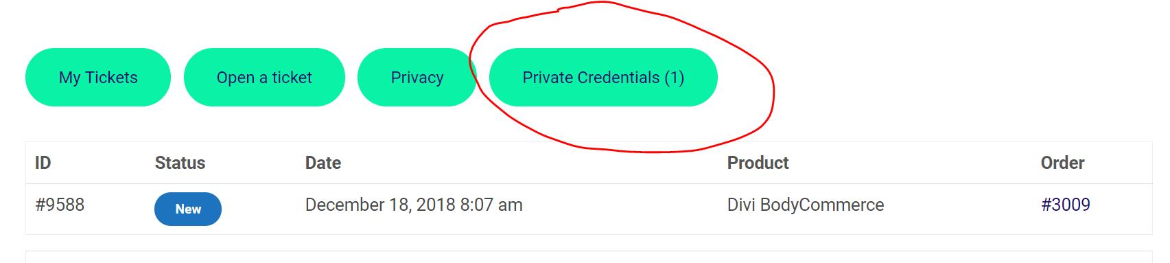 Private Credentials