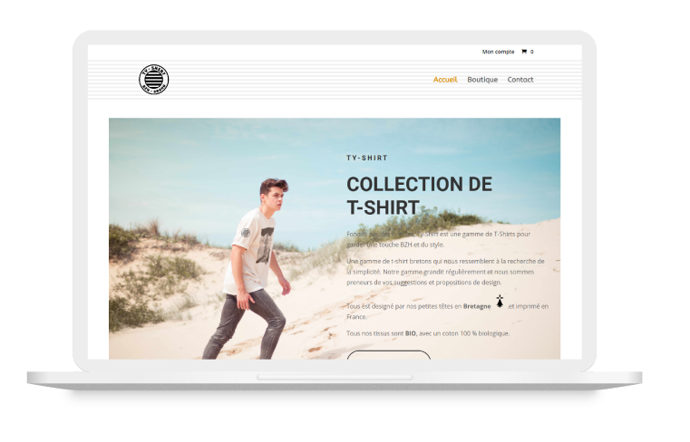 Divi BodyCommerce Example - ty-shirt fr