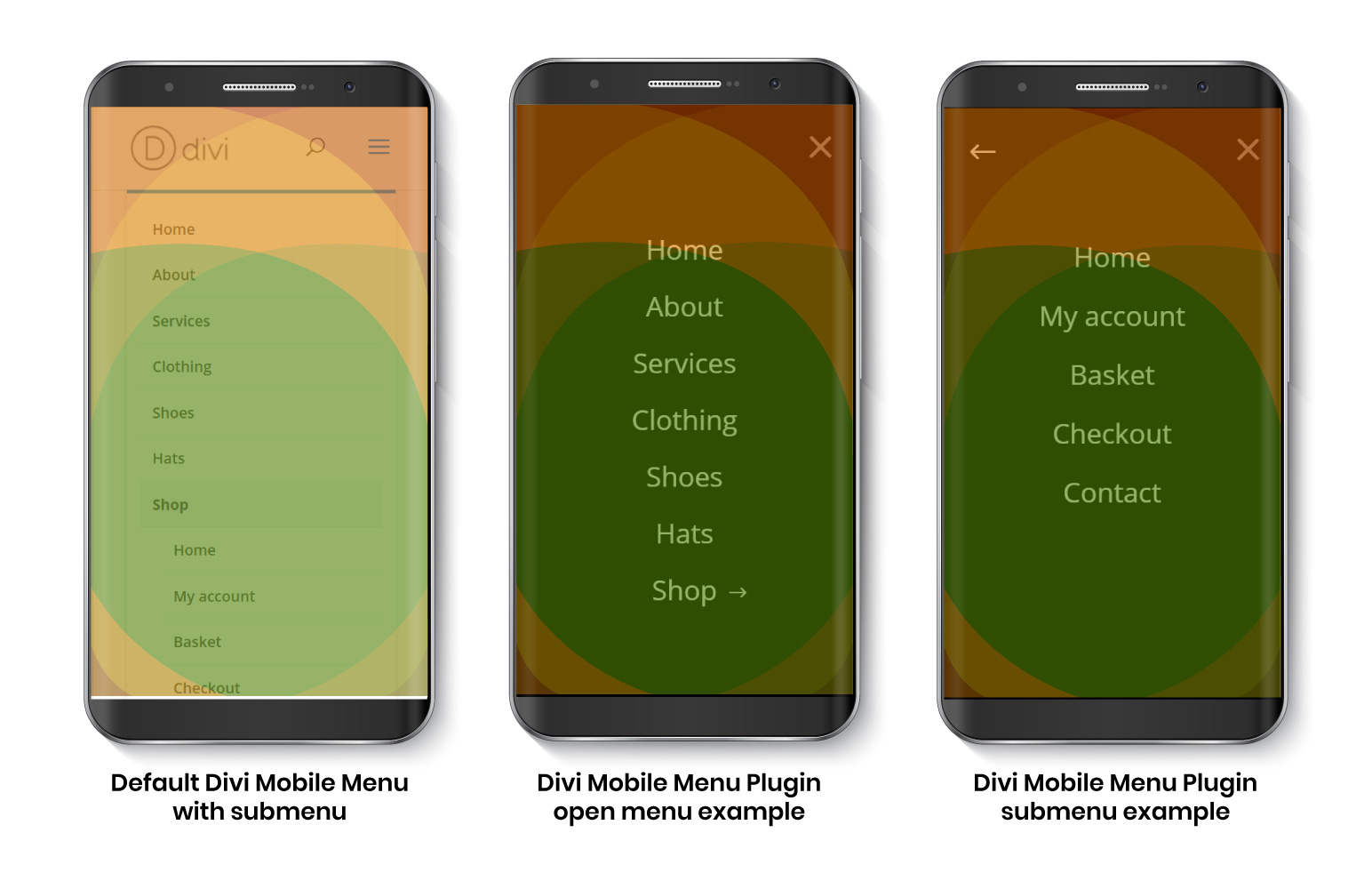 Default Divi Mobile and Improved one