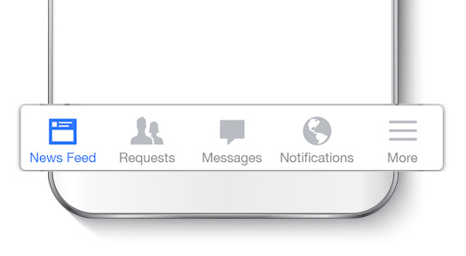 Facebook Bottom Navigation