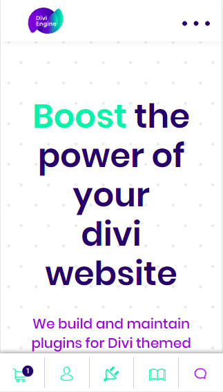 Divi Engine New Menu Idea