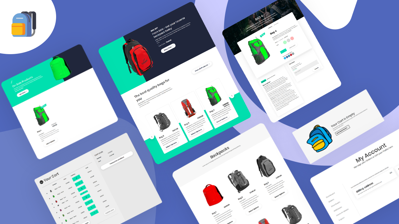 Backpack Shop Layout pack - Bodycommerce