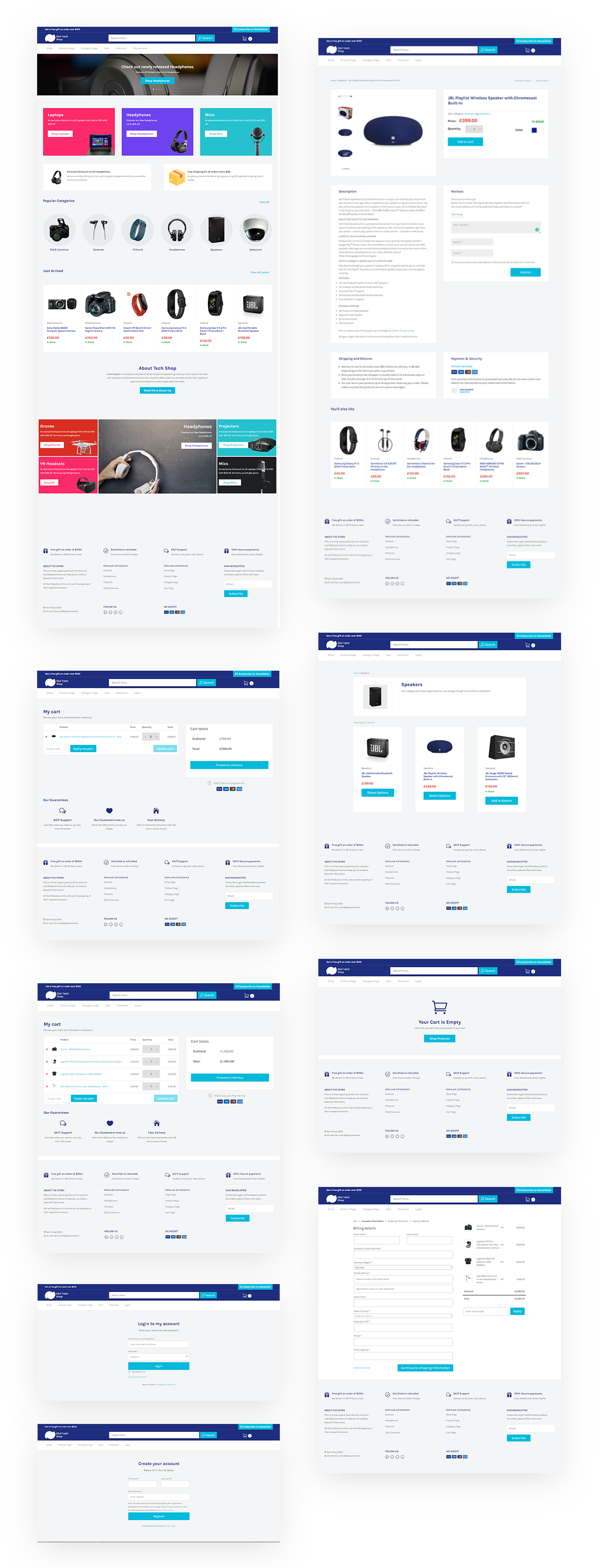 Divi Shop Tech Layout Pack
