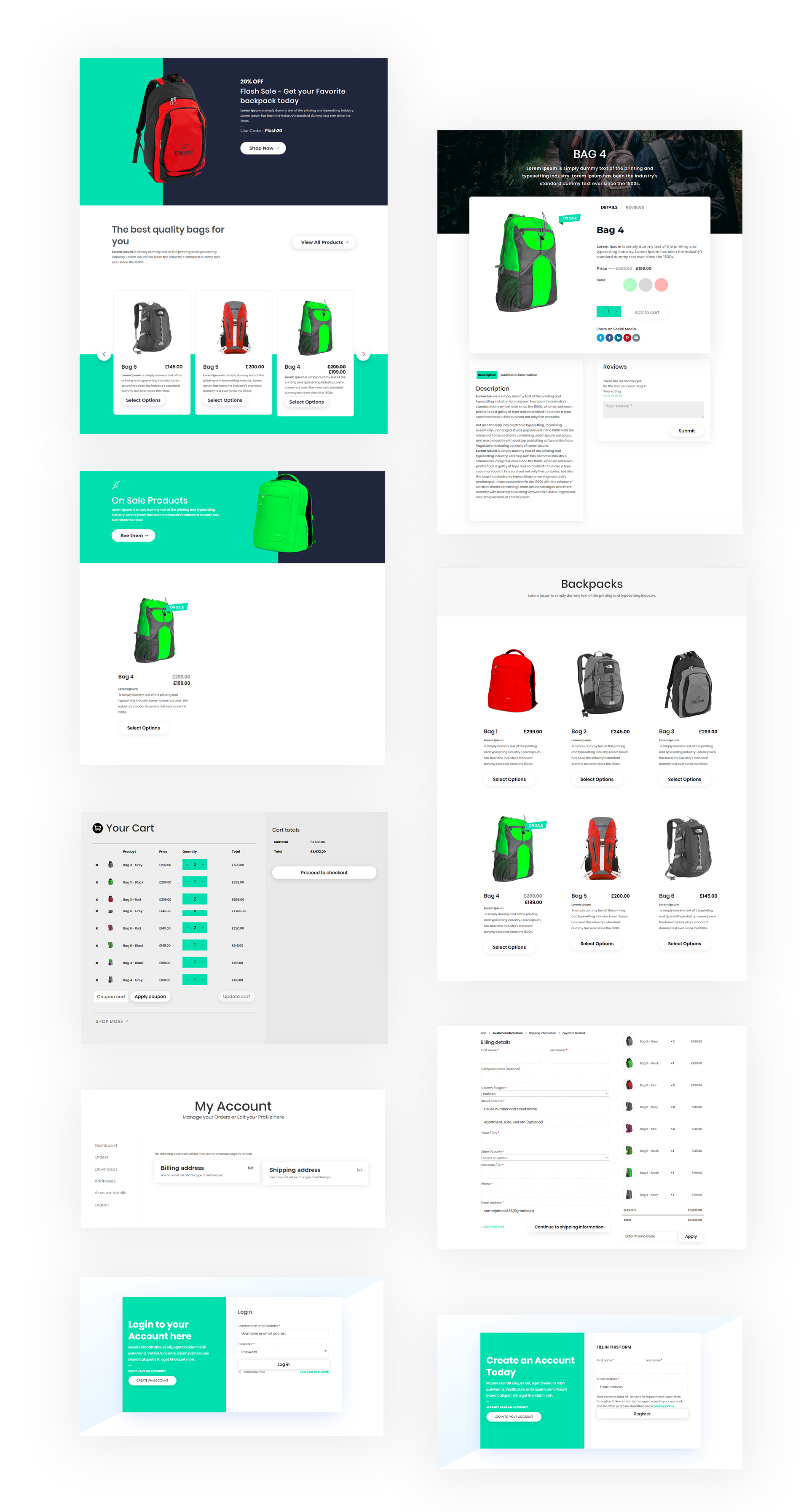 Divi Shop Backpack Layout Pack