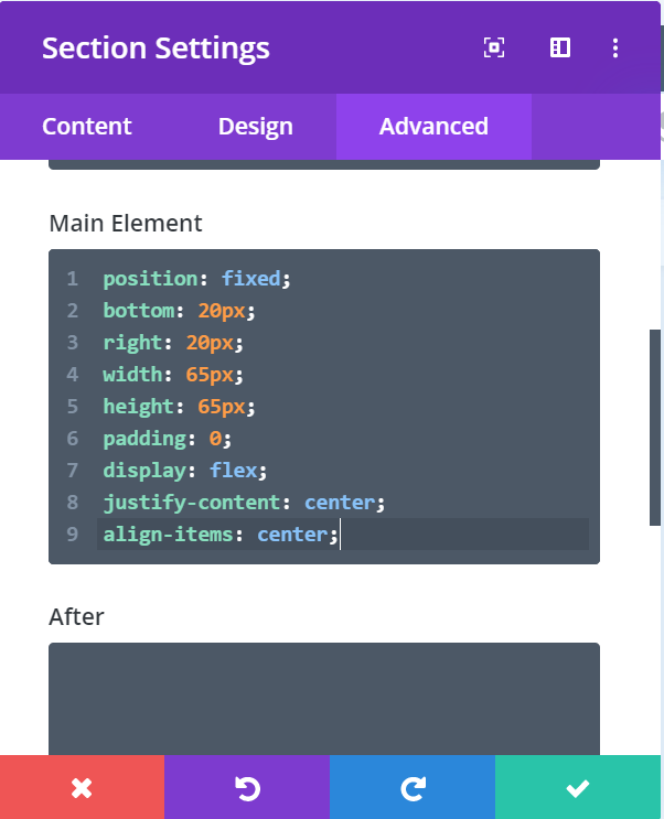 Floating Cart CSS
