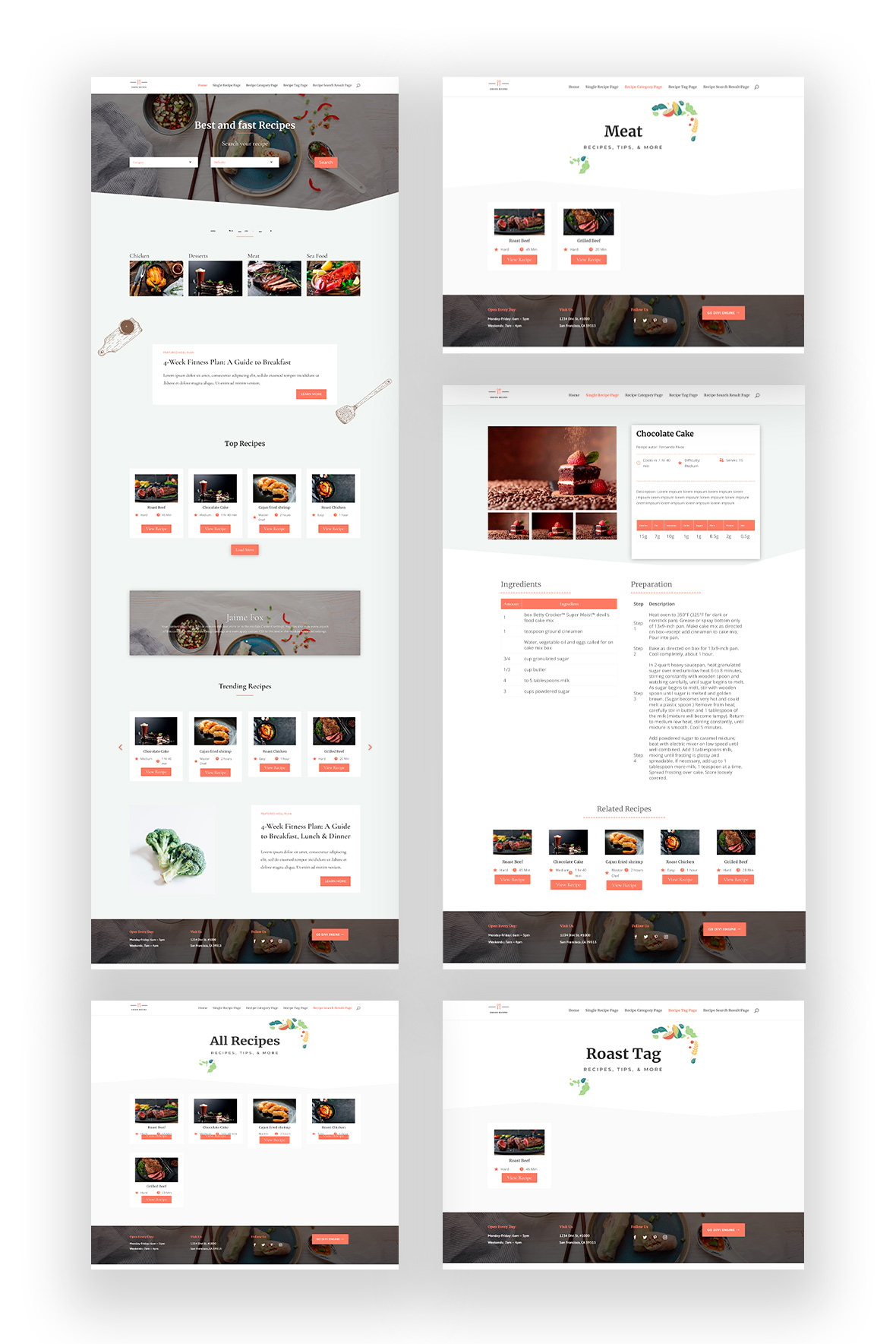 Divi Recipe Layout Pack