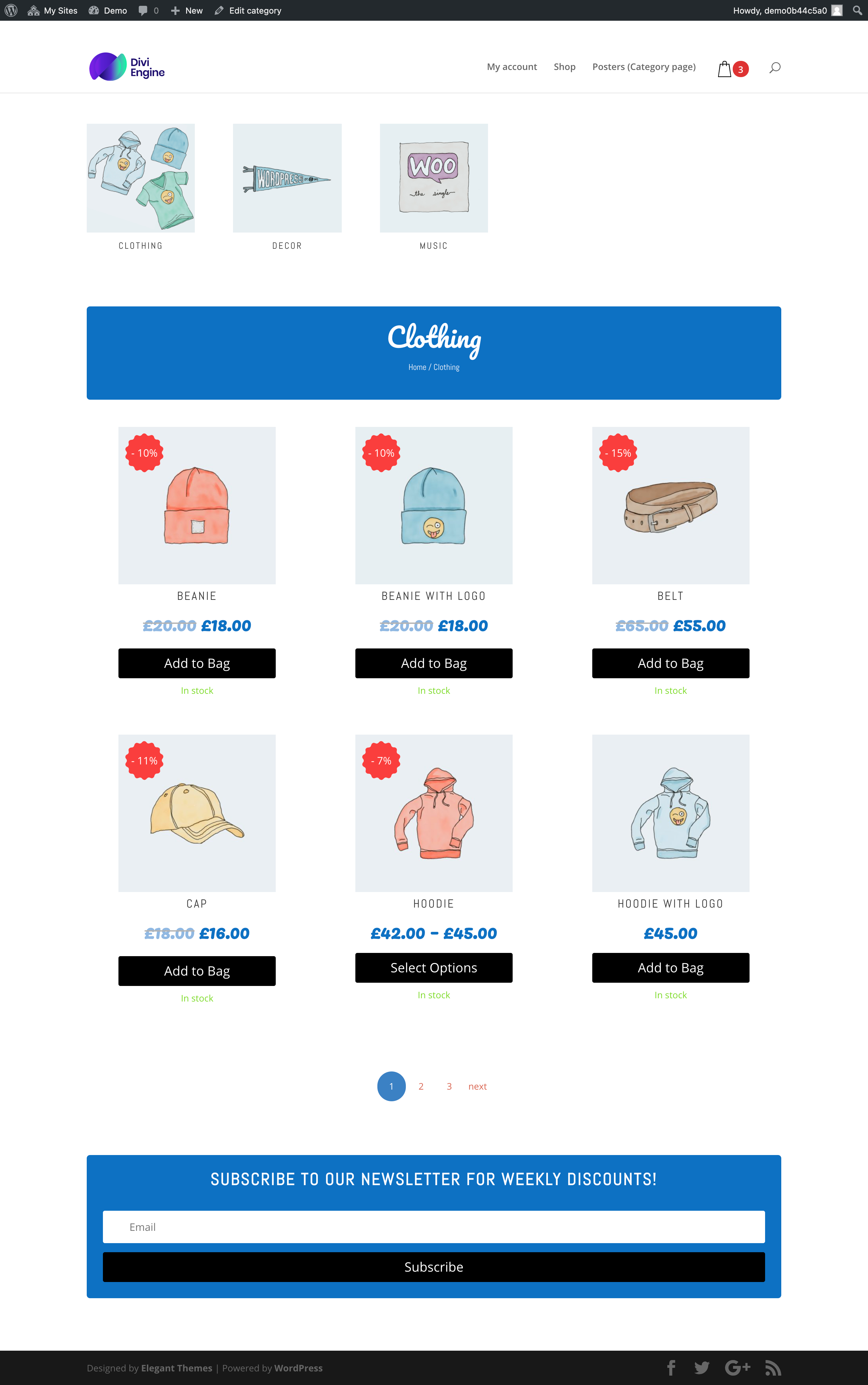 Divi WooCommerce Custom Category Page by BodyCommerce