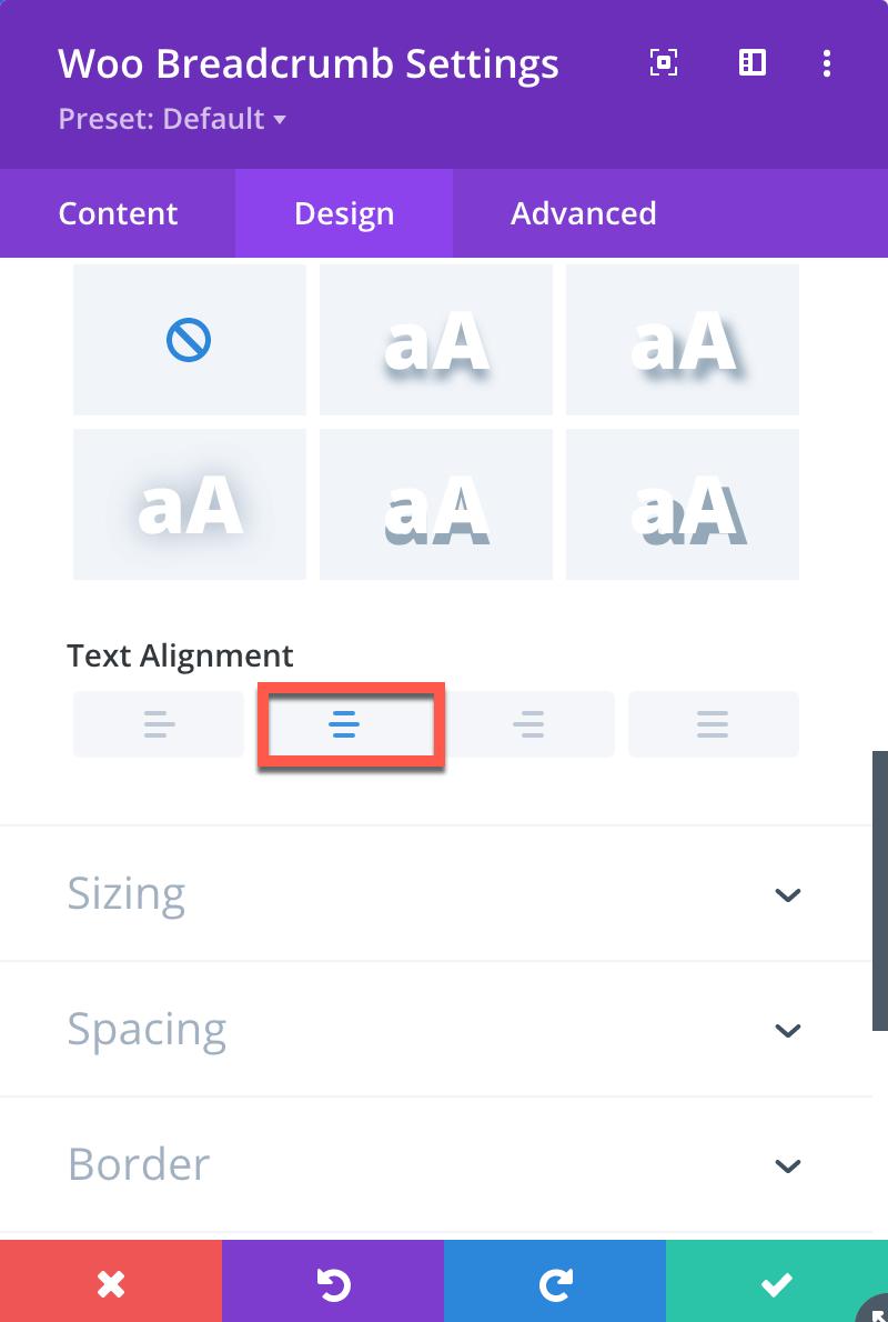 Divi Category Page Breadcrumb Module Design