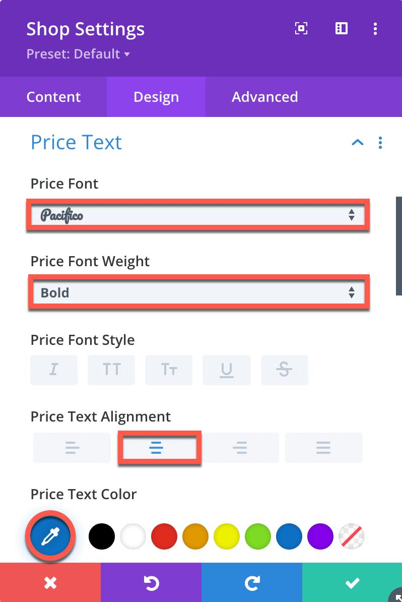 Divi Category Page Shop Module Design