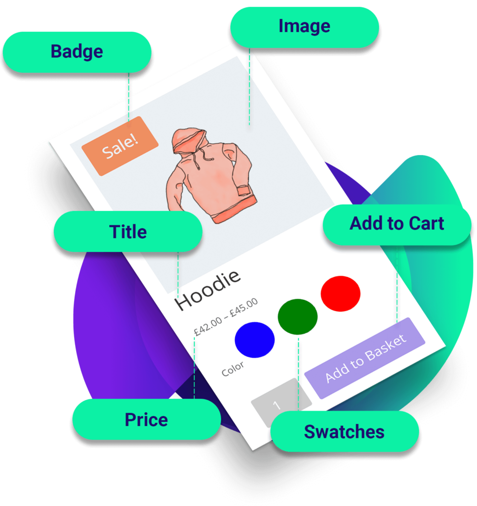 Divi WooCommerce Loop with Enhanced Swatches