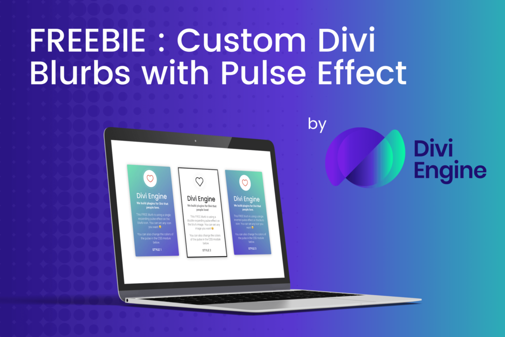 Divi Pulsating Blurb Module with CSS
