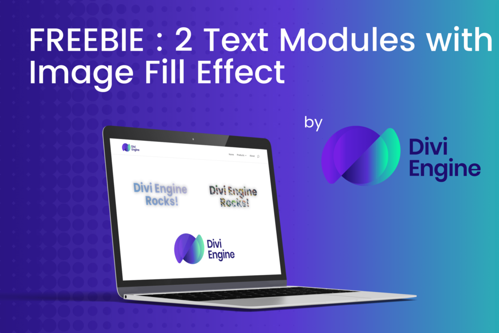 Divi Text Modules with Image Fill Effect using CSS