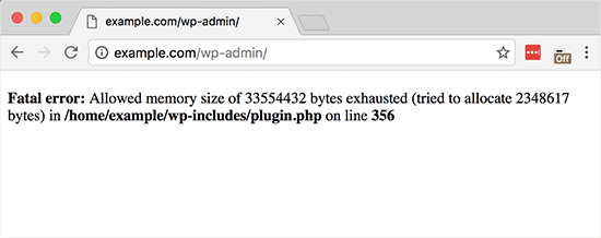 WordPress Fatal Error: Allocated Memory Size Exhausted