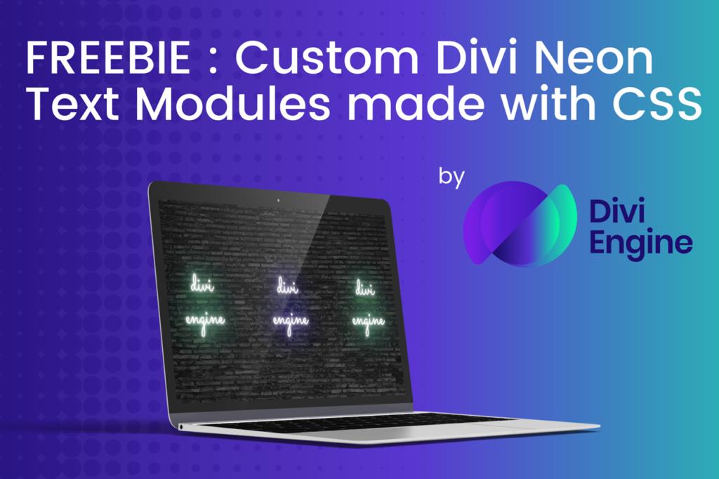 Custom Divi Neon Text Modules