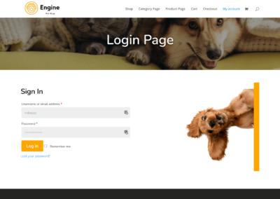 BodyCommerce Custom Login Page