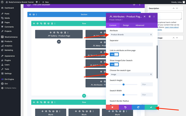 BodyCommerce Attribute Module Settings