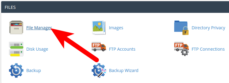 cPanel File Browser