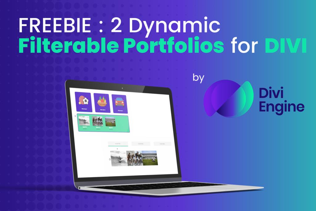 Divi Freebie - 2 FREE Divi Filterable Portfolios