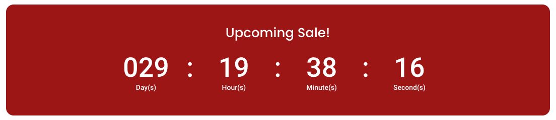 Divi Conditional Logic Use Case 1 – Upcoming Promo Countdown Timer